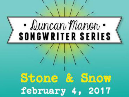 Songwriter Series Feb 4th!