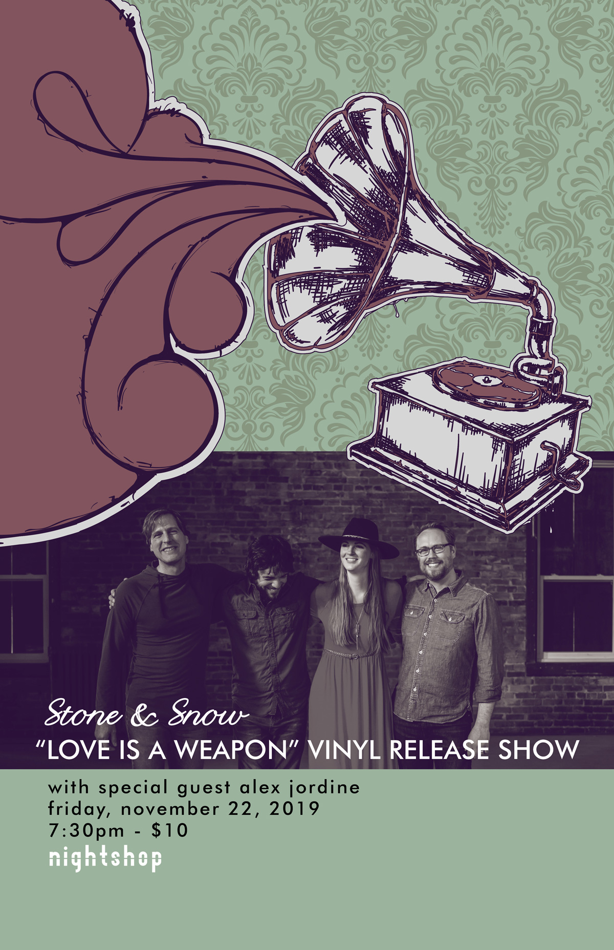 Love is a Weapon Vinyl Release Show Poster